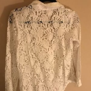 AND Tops - White net blouse